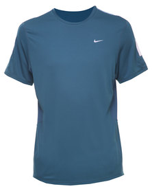 Nike Performance Racer SS Tee Blue