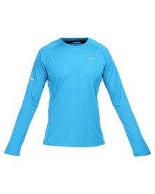 Nike Performance Miler UV LS Tee Blue