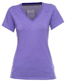 Nike V-Neck DFC SS Tee Purple