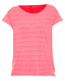 Nike Performance Touch Breeze Crew T-Shirt Coral