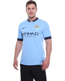 Nike Performance Manchester City Home Stadium Jersey Blue