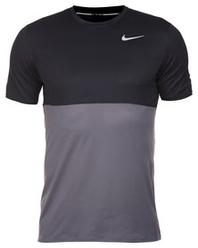 Nike Performance Racer SS Black and Grey