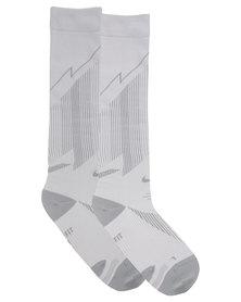 Nike Performance Elite Running Lightweight Compression OTC Socks Grey