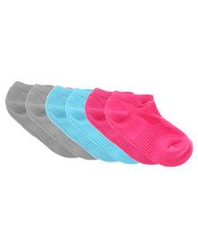 Nike Performance 3 Pack Cotton Cushion No Show Socks Multi