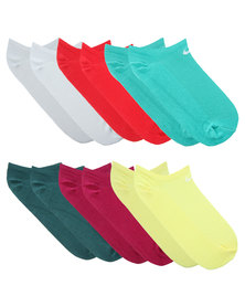 Nike Performance Women's 6pack Lightweight No Show Socks Multi