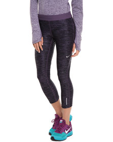 Nike Performance Printed Relay Crop Tights Purple