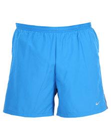 "Nike Performance 5"" Woven Reflective Short Blue"