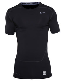 Nike Performance Core Compression Short Sleeve Top 2.0 Black