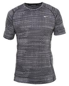 Nike Performance Printed Miler SS Grey