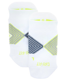 Nike Performance Running Dri Fit Cushion Dynamic Arch No Show Socks White