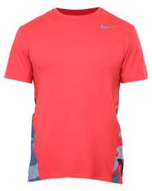 Nike Performance Vapor Dri-FIT Camo S/S Tee Red