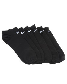 Nike Peformance 3 Pack Lightweight No Show Socks Black