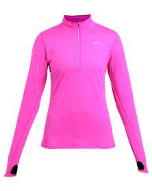 Nike Performance Element 1/2 Zip Running Top Fuschia