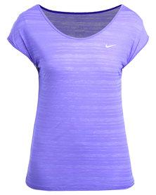 Nike Performance DF Cool Breeze SS Top Purple