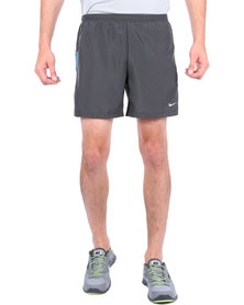 "Nike Performance 5"" Woven Reflective Running Shorts Grey"
