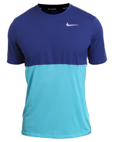 Nike Performance Racer Short Sleeve Blue