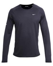 Nike Performance UV Miler L/S Running Shirt Black