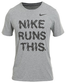 Nike Performance Nike Run This Tee Grey