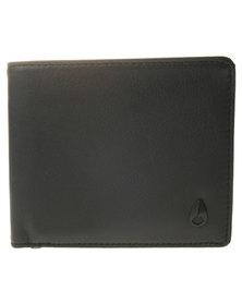 Nixon BI-Fold ID Coin Wallet Black