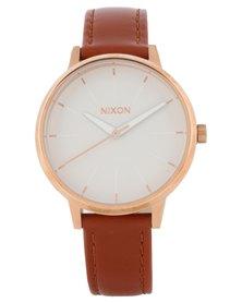 Nixon Kensington Leather Watch Tan