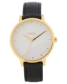 Nixon Kensington Leather Watch Black