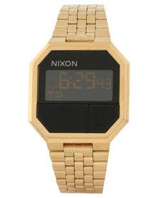Nixon Re-Run Digital Watch All Gold