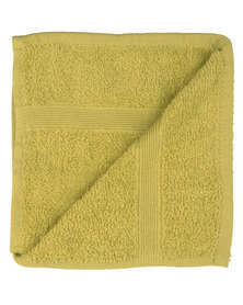 Nortex Towels White Diamond Pack of 6 Face Cloths Lime Green