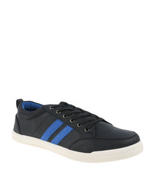North Star Lace Stripes Sneaker Black/Blue