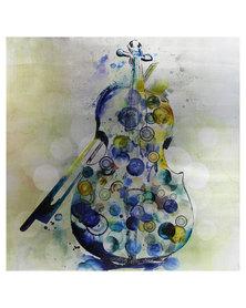 NovelOnline Violin Canvas Print with Foil Blue