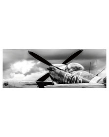 NovelOnline Plane Canvas Print Sepia