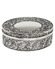 NovelOnline Rio Silver Round Trinket Box Silver-Tone