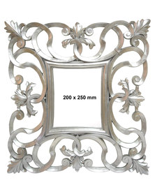 NovelOnline Scroll Baroque Photo Frame Silver