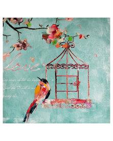 NovelOnline Bird Cage 1 Canvas Turquoise
