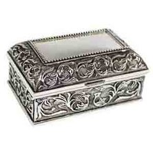 NovelOnline Talia Trinket Box Silver-Tone