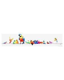 NovelOnline Birds on A Wire Canvas Multi-Coloured