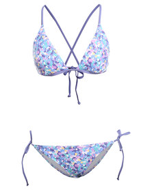 O'Neill Superkini Triangle Bikini Set Multi
