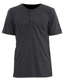 O'Neill Jacks Henley T-Shirt Charcoal Grey