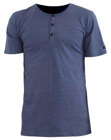 O'Neill Jacks Henley T-Shirt Blue