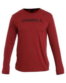 O'Neil Corpo Long Sleeve T-Shirt Red