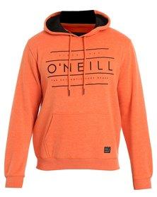 O'Neill Script Hood Sweatshirt Orange