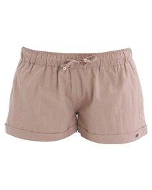 O'Neill Linen Shorts Beige