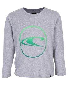 O'Neill Boys Circular Longsleeve T-Shirt Grey