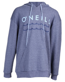 O'Neill Boys Waves Pullover Hoodie Sweater Blue
