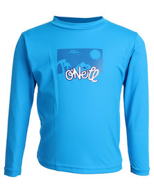 O'Neill Toddlers Skins Long Sleeve Rash Tee Blue
