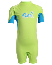O'Neill Ozone Toddlers Spring One-Piece Green/Blue