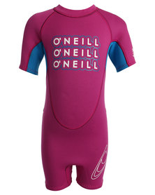 O'Neill Reactor Toddlers Spring 2mm One-Piece Pink/Blue