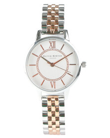 Olivia Burton Wonderland Two Tone Bracelet Strap Watch Rose Gold