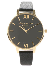 Olivia Burton Big Dial Watch Black and Gold-Tone