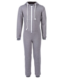 Onesie Plain Onesie Kids Grey