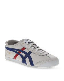 Onitsuka Tiger Mexico 66 Classic Leather Sneakers White and Grey